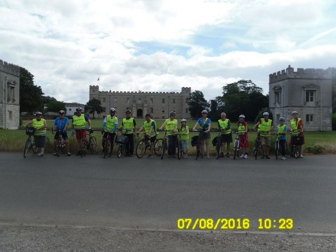 The group in front of Syon House.