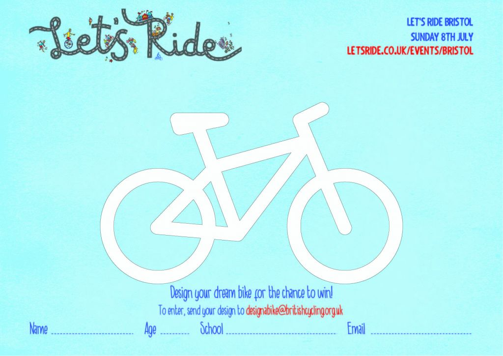 Lets ride hsbc uk lets ride bristol to celebrate hsbc uk lets ride bristol bristol city council are inviting school children and teachers to design a dream bike download the template bike malvernweather Image collections