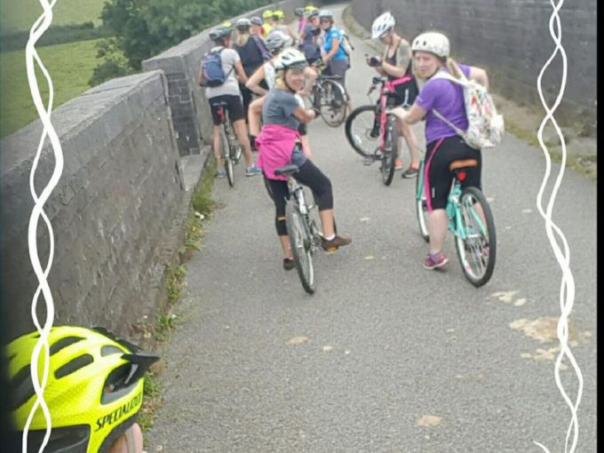 On one of the many viaducts along the Plym Trail