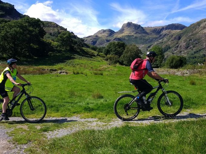 Sky ride Local, 24th August with Langdale Pikes behind