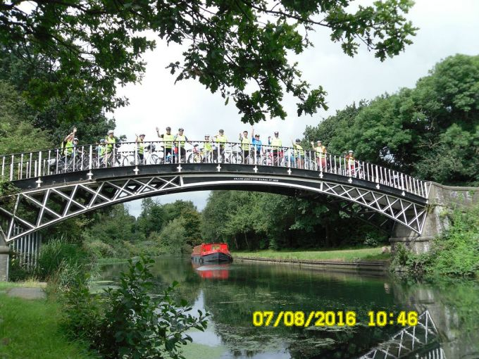 On the cast iron bridge over the river Brent/Grand Union canal Brentford