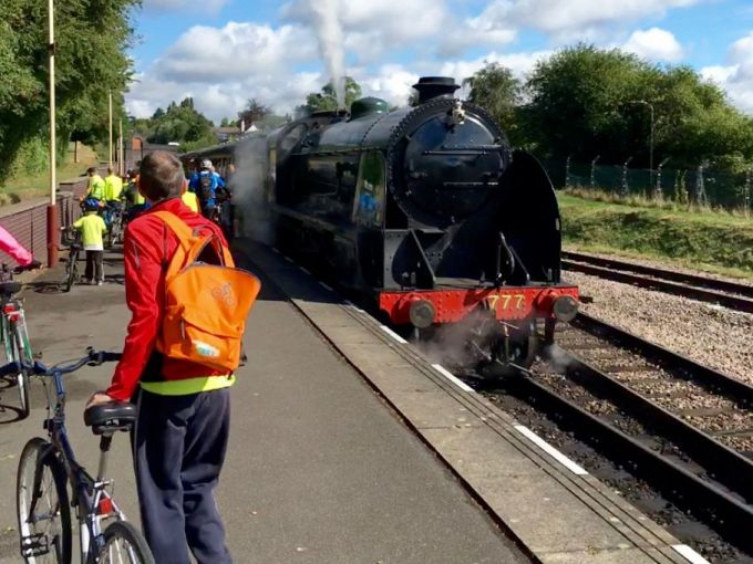 Boarding the Steam Train at Leicester North